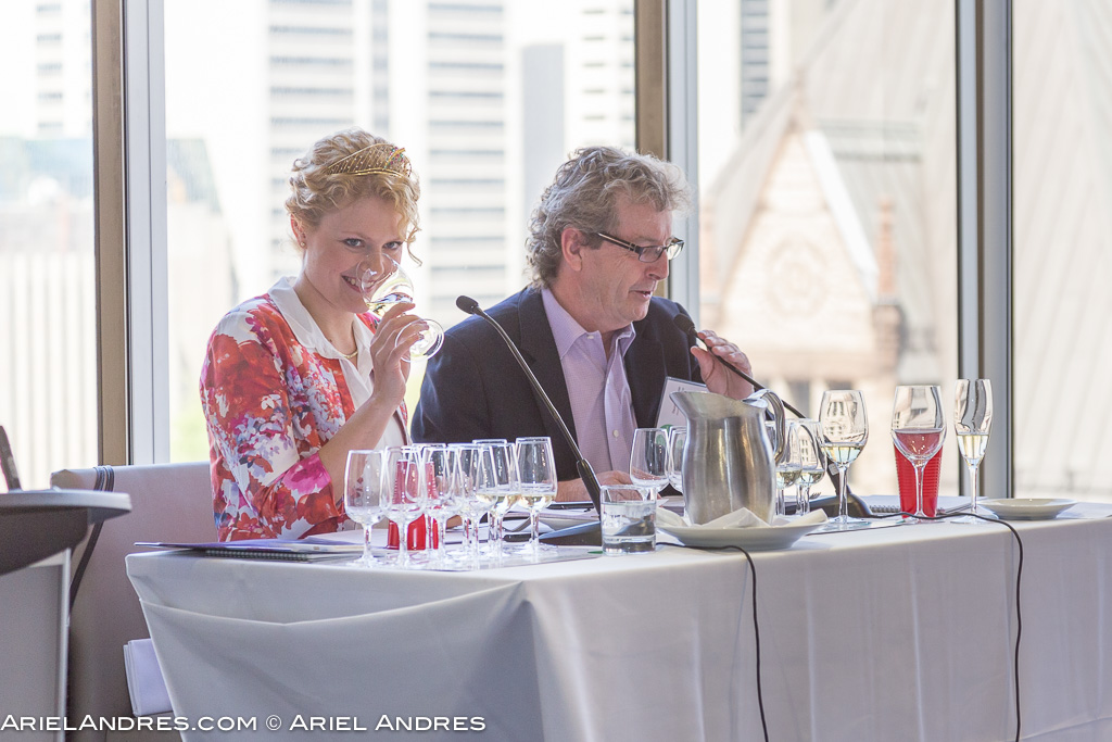 German wine queen Janina Hahn and David Lawrason lead the tutored tasting at Arcadian Loft.