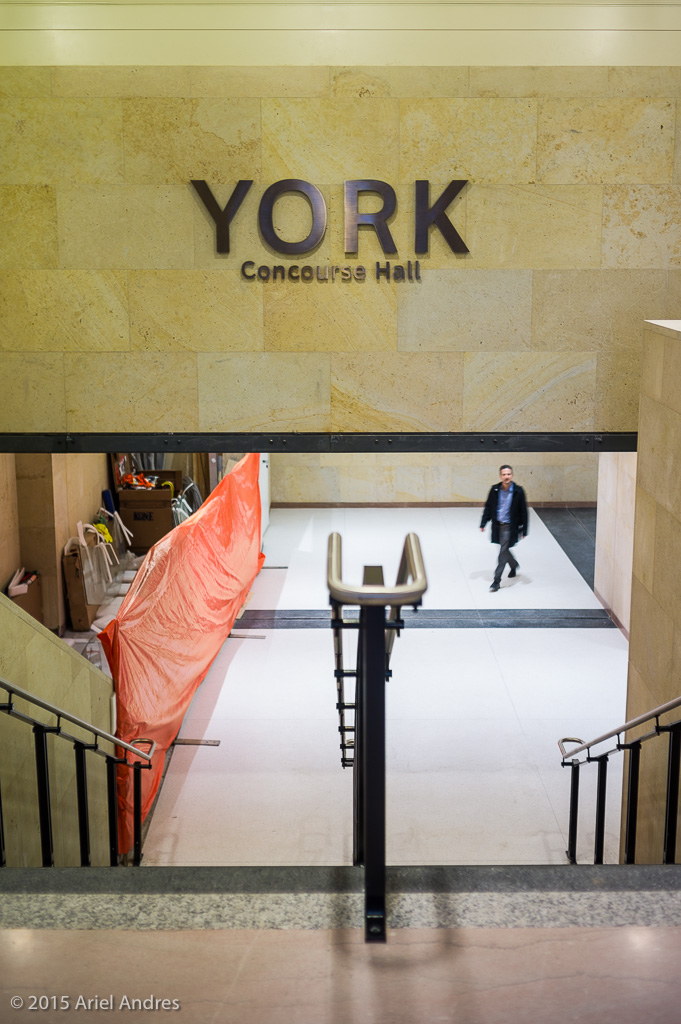 Construction is on-going in the York Concourse.