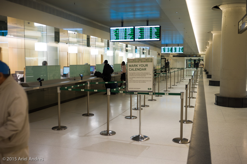 Ticket booths in the York concourse.