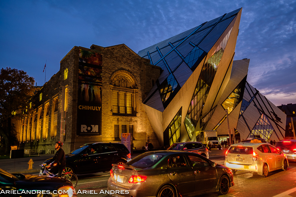 The museum at night prior to the consumer event at Love Wine, Love Chile event at the Royal Ontario Museum in Toronto on November 1, 2016.